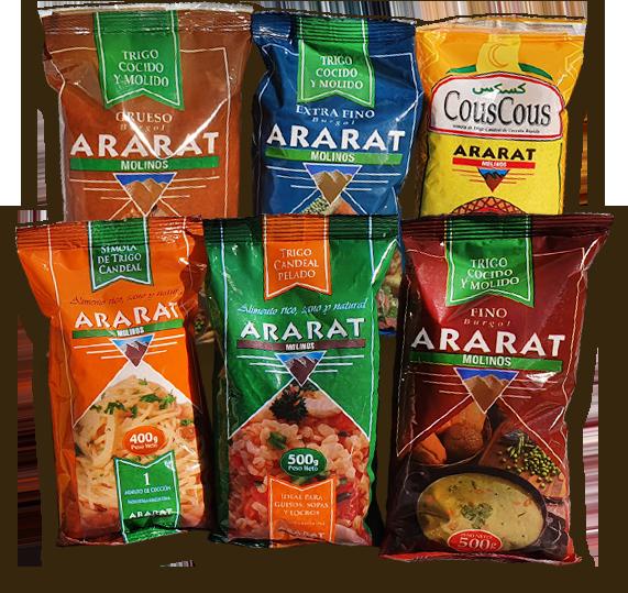 Packs individuales de productos Molinos Ararat